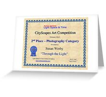 2nd Place-Photography-Through the Light Greeting Card