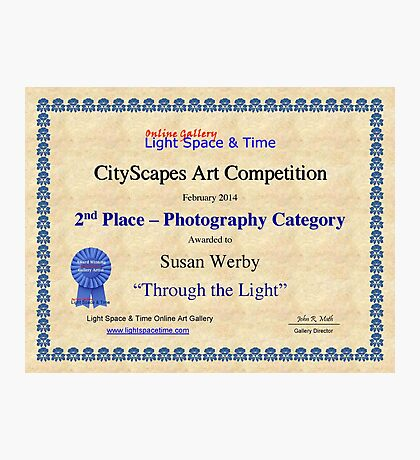 2nd Place-Photography-Through the Light Photographic Print