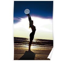 nude holding moon Poster