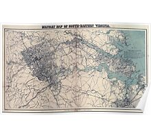 Civil War Maps 1129 Military map of south-eastern Virginia Poster