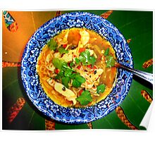 Thai Chicken Noodle Soup Poster