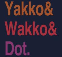 Animaniacs (Yakko, Wakko, Dot) by LiamNeesons