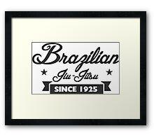 Vintage Brazilian Jiu_Jitsu Since 1925 Framed Print