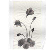 Ink flower Poster
