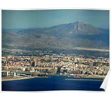Alicante seen from Above Poster