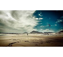 Fishing With A Kite Photographic Print