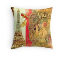 The Crickets of Paris Throw Pillow