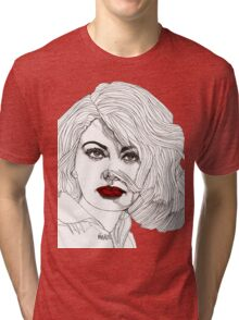Sophia with Red Lips Tri-blend T-Shirt