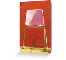 The Chair by the Pool Greeting Card