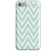Two Tone Mint Green White Chevron iPhone Case/Skin