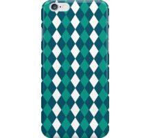 Blue Green White Modern Diamonds Pattern iPhone Case/Skin