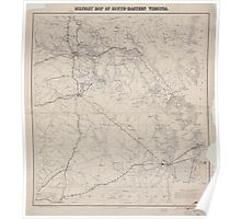 Civil War Maps 1136 Military map of south-eastern Virginia Poster