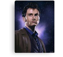 Tenth Doctor Portrait Fan Art Print Canvas Print