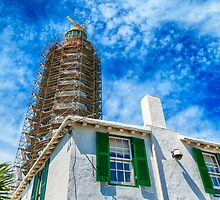 Gibbs Hill Lighthouse Under repair,Bermuda... by buddybetsy