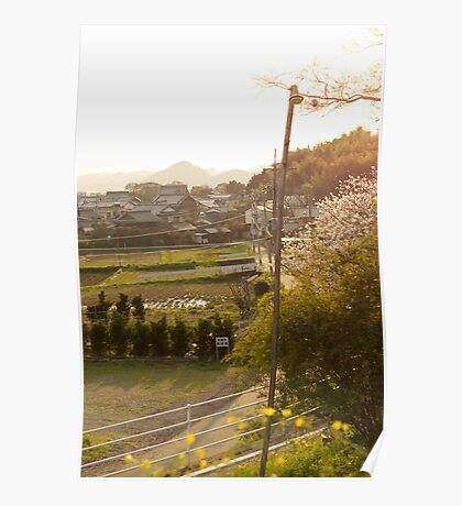 late afternoon countryside japan Poster