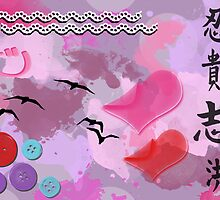 Teenage Dreams - Buttons, Hearts, Birds and Purple by sitnica