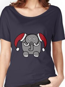 Santa Elephant Women's Relaxed Fit T-Shirt