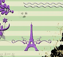 Memories from Paris - Green, Purple  by sitnica