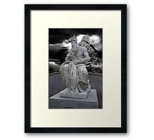 Moses by Michelangelo Framed Print
