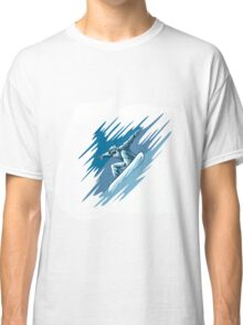 Jumping snowboarder Classic T-Shirt