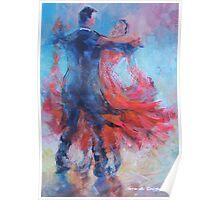 Ballroom Dancers In Hold - Dance Art Gallery Poster