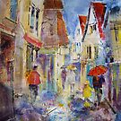 Shopping In The Rain - Umbrellas Art Gallery by Ballet Dance-Artist