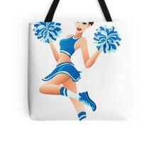 Young cheerleader Tote Bag