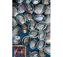 Paua Shells fro Sale Photographic Print