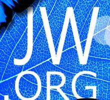JW.ORG (Blue flowers and butterflies) Sticker