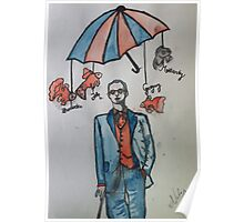 Mycroft in the Sky with Goldfish Poster