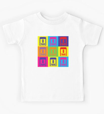 8 Track Pop Art T-Shirt Kids Tee