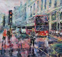 London Art - Red Bus by Ballet Dance-Artist