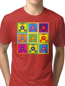 45 Record Pop Art Tri-blend T-Shirt