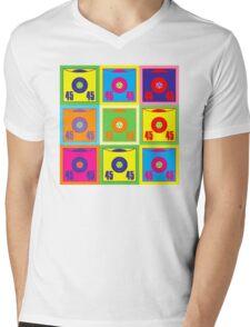 45 Record Pop Art Mens V-Neck T-Shirt
