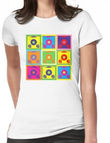 45 Record Pop Art Womens Fitted T-Shirt