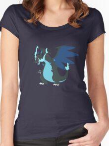 Mega-Charizard X Minimalist Women's Fitted Scoop T-Shirt