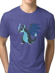 Mega-Charizard X Minimalist Tri-blend T-Shirt