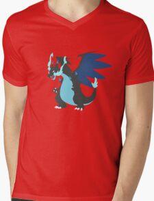 Mega-Charizard X Minimalist Mens V-Neck T-Shirt