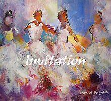 Spanish Flamenco Dancers Painting – Invitation by Ballet Dance-Artist