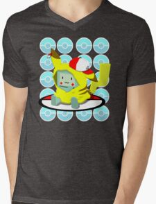 Choose me, Pika-mo!!  Mens V-Neck T-Shirt