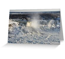 Frozen Niagara Falls Greeting Card