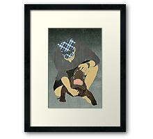 Alligator Wrestling Framed Print