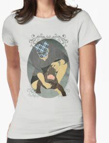 Alligator Wrestling Womens Fitted T-Shirt