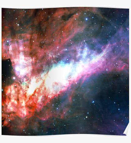 Omega Nebula   Galaxy Mathematix Poster