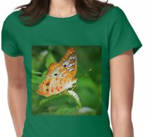 White peacock butterfly Womens Fitted T-Shirt