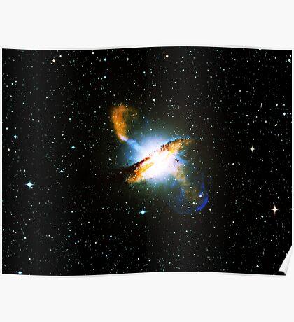 Centaurus A Nebula   Galaxy Mathematix Poster