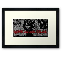 support ya local outlaws Framed Print
