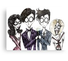 Tim Burton's Doctor Who Metal Print