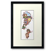 Chibi Titan Slayers Framed Print