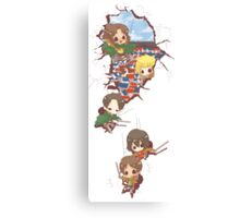 Chibi Titan Slayers Canvas Print